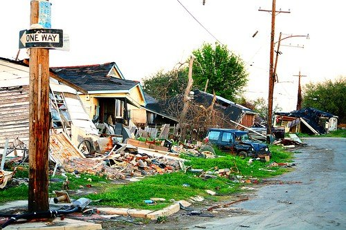The lower 9th Ward of New Orleans post-Katrina