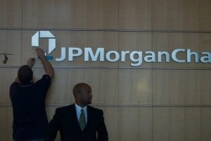 The changing logo of JP Morgan Chase