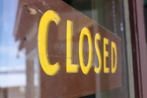 Closed Sign in Yellowstone by bmills via flickr