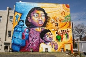 "The Domestic Violence Awareness Mural: ""A Survivor's Journey"" (2010) by Joel Bergner Photo by Flickr user Elvert Barnes"