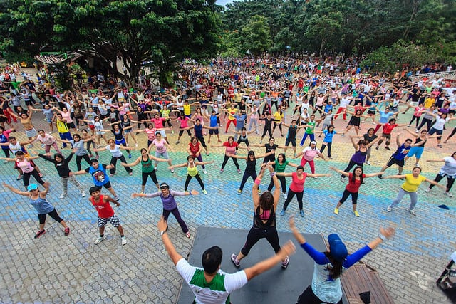 Zumba in the Philippines Br. Jeffrey Pioquinto, SJ / Flickr Creative Commons