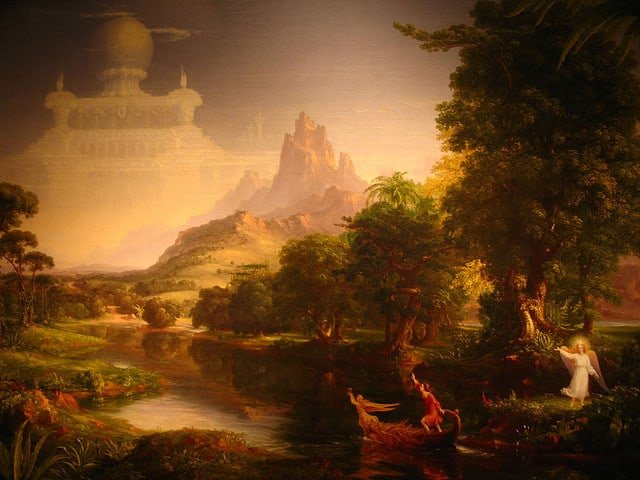 THE VOYAGE OF LIFE:  YOUTH by Thomas Cole | Photo by Flickr User mookiefl | Flickr Creative Commons